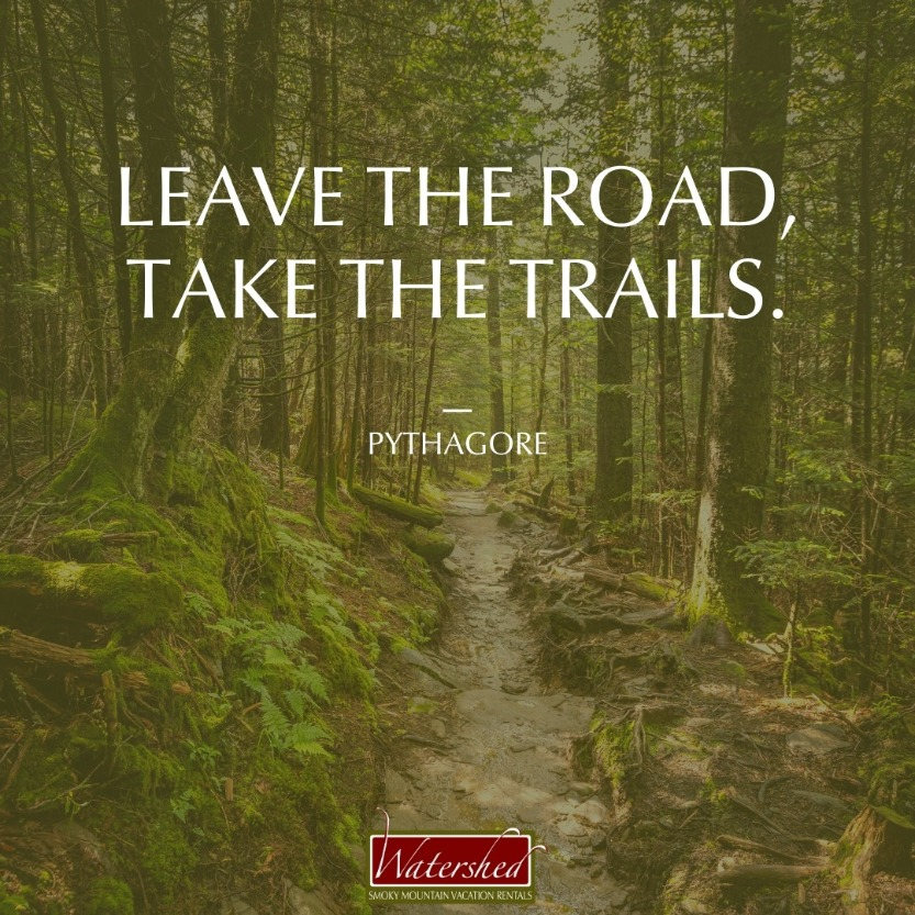 """Leave the road, take the trails."" – Pythagore"