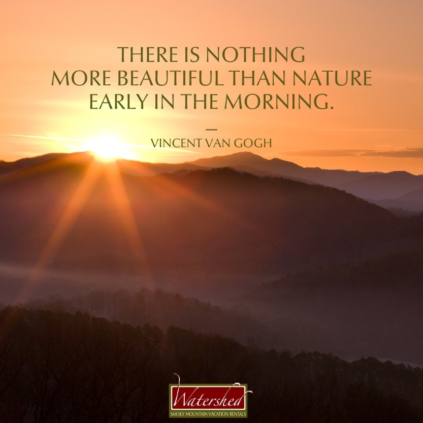 """There is nothing more beautiful than nature early in the morning."" – Vincent Van Gogh"
