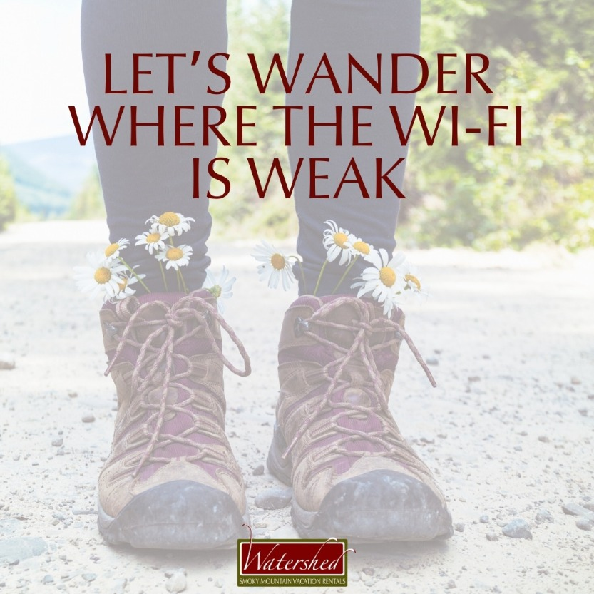 Let's wander where the WI-FI is weak.